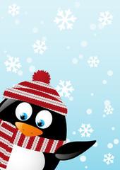 Cute penguin Christmas card