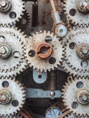 Old dirty weathered cogwheels