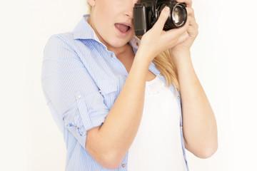 Junge Hobbyfotografin