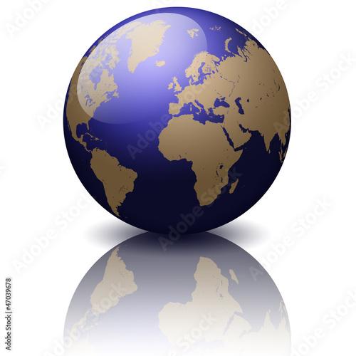 3D Globe Globus Weltkugel Weltkarte World Map Erde Earth