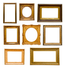 Set of vintage gold  frames