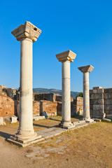 Ruins of st. Johns Basilica at Selcuk Ephesus Turkey