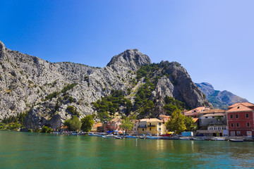 Town Omis in Croatia