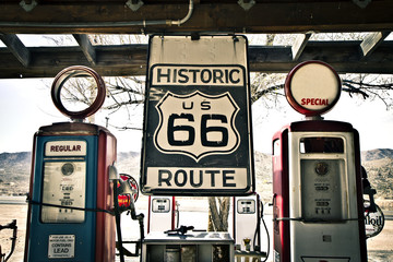 Poster Route 66 Hisotric Route 66