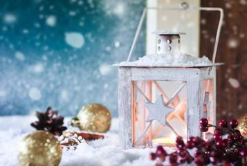 weihnachtliches schneegestöber