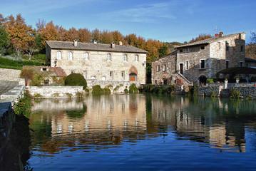 Old thermal bath in Bagno Vignoni Tuscany