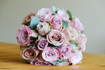 Brides bunch of roses