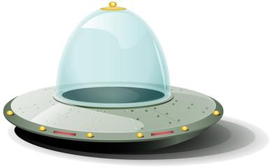 Retro Cartoon Spaceship