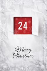 Weihnachtskarte 24 Dezember