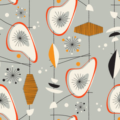 Seamless vintage pattern - Vector.