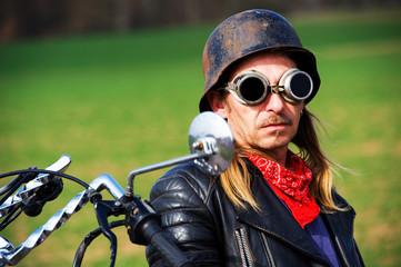 Canvas Print - biker