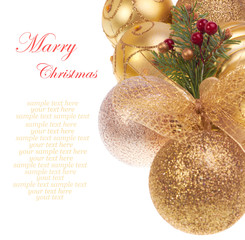 Golden balls  Christmas decoration