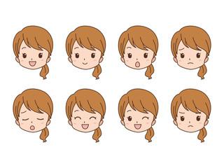 女性/表情