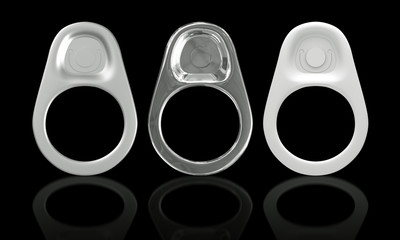 3D Ring Pull Of Cans
