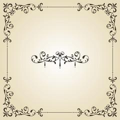 Vector Vintage Frame and Label