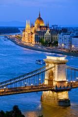 Keuken foto achterwand Boedapest Evening in Budapest