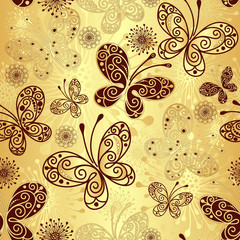 Gold-brown seamless pattern