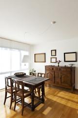 beautiful apartment interior, ethnic furniture