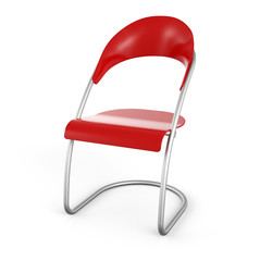Besucher Stuhl Rot in 3D