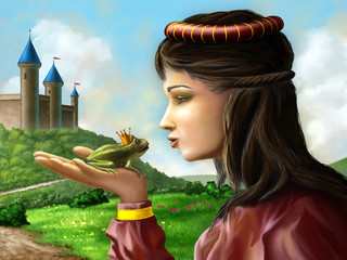 Canvas Prints Castle Frog prince