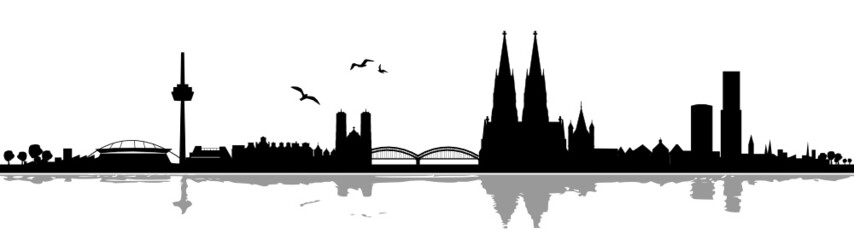 Skyline Köln Schatten