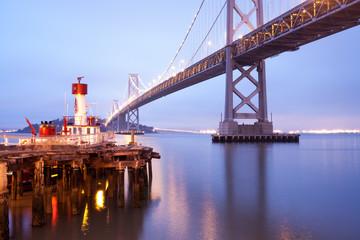 Bay Bridge,in the early morning San Francisco