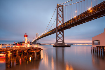 Daybreak at Bay Bridge , San Francisco