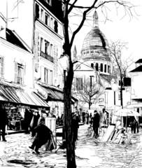 Montmartre w zimie - 47116077