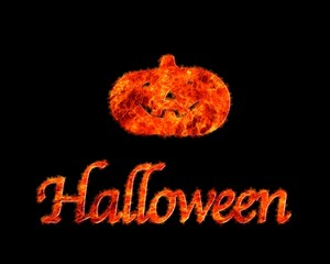 Halloween flame.