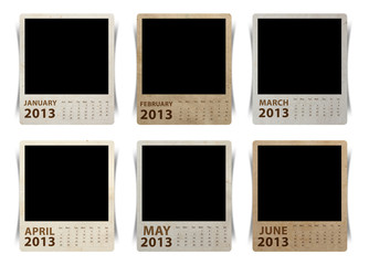 Calendar 2013 on blank photo