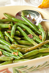 Fresh Organic Cooked Green Beans