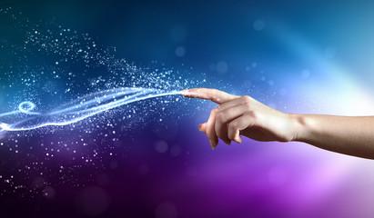 magical hands conceptual image