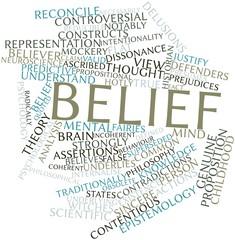 Word cloud for Belief