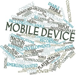 Word cloud for Mobile device