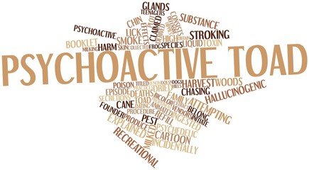 Word cloud for Psychoactive toad