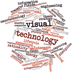 Word cloud for Visual technology