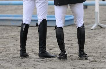 Foto op Aluminium Paardrijden deux cavaliers