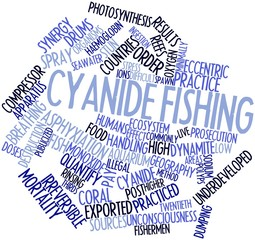 Word cloud for Cyanide fishing