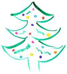Drawn Christmas tree