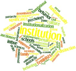 Word cloud for Institution
