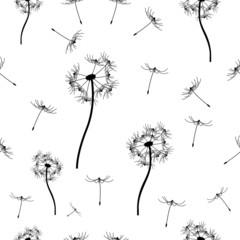 seamless pattern dandelion