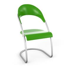 3D Stuhl vor weissem Hintergrund - Grün