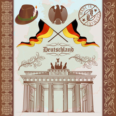 German Symbols Vintage Set