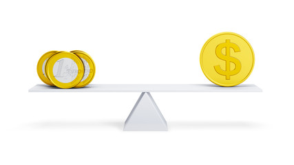 balance between euro and dollar