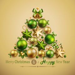 Wall Mural - Christmas card with place for text. Vector illustration.