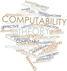 Word cloud for Computability theory