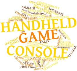 Word cloud for Handheld game console