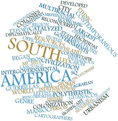 Word cloud for South America