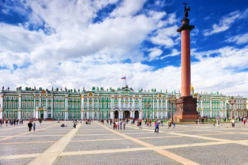 View Winter Palace  in  Saint Petersburg. Russia.
