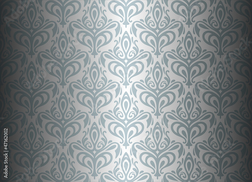 Silver Luxury Vintage Wallpaper Stock Image And Royalty Free